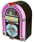Steepletone Retro Classic Rock Mini - USB MP3 CD LED Mini Jukebox (Dark)