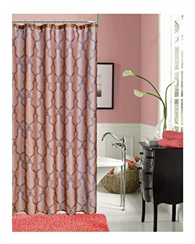 Dainty Home Link Shower Curtain, Rust/Brown