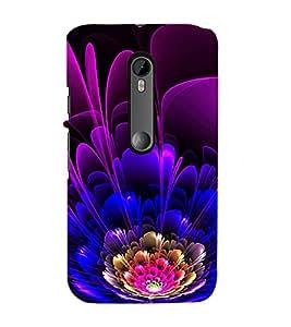 99Sublimation Modern Art Design Flower Pattern 3D Hard Polycarbonate Back Case Cover for Motorola Moto G3 :: G 3rd Gen :: G Gen 3 :: G Dual SIM 3rd Gen :: G3 Dual SIM