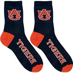 Auburn Tigers Team Color Quarter Socks by For Bare Feet