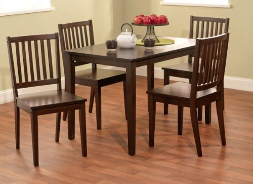 Attractive TMS 5 Piece Shaker Dining Set, Espresso