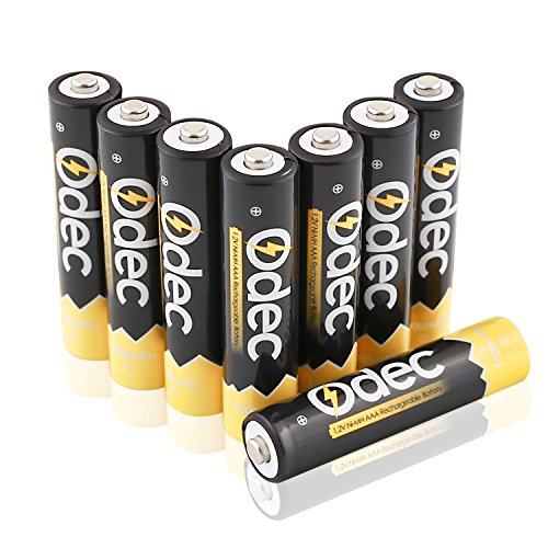 Odec AAA Rechargeable Batteries - 8 Pack Ni-MH 1000mAh Deep Cycle 1.2V Battery Pack (Aaa 1000 Mah Rechargeable compare prices)