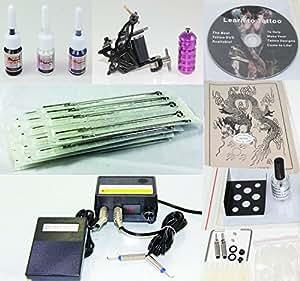 Buy complete tattoo kit with machine gun power supply for Amazon tattoo machine