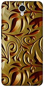The Racoon Lean Gold Weave hard plastic printed back case for Alcatel Onetouch Idol X Plus 6043D