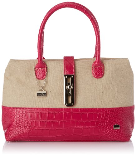 La Bagagerie Women's Shop Xcol Top-Handle Bag Beige Beige (Beige/Fuschia) Taille Unique