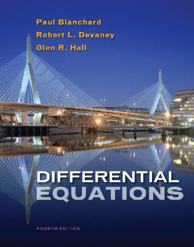 Student Solutions Manual for Blanchard/Devaney/Hall's Differential...
