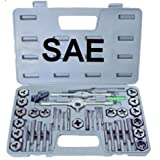 NEW 40 piece TAP AND DIE SET STANDARD SAE Kit w. Case
