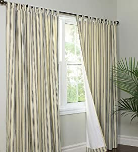 Amazon Com 84 Quot Tab Top Insulated Triple Stripe Curtain