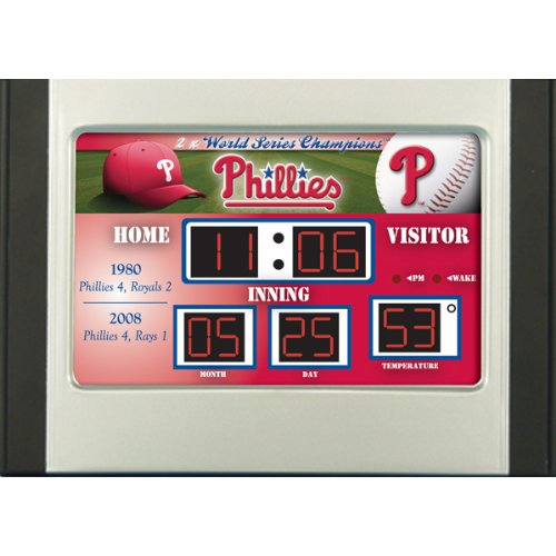 MLB Baseball Scoreboard Desk Clock