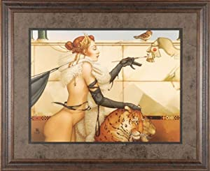 The Creation Michael Parkes Nudes Fantasy Picture 40x33, Gallery Quality Framed Print