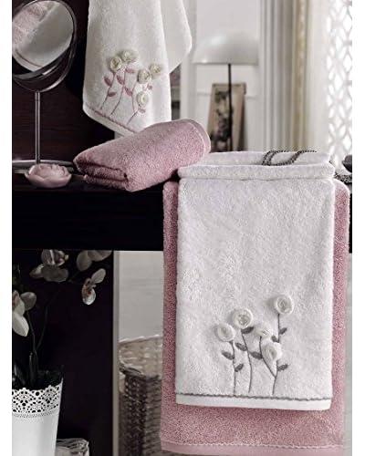 Homemania Set Asciugamano 2 pezzi Pearl