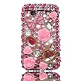 Pink Bow and Pale Pink Roses Rhinestone Diamante Crystal Case Cover For BlackBerry Bold 9700 9780by Give Me A Chance