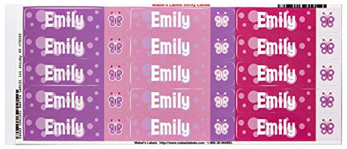 Mabel'S Labels 40845133 Peel And Stick Personalized Labels With The Name Emily And Butterfly Icon, 45-Count front-947016