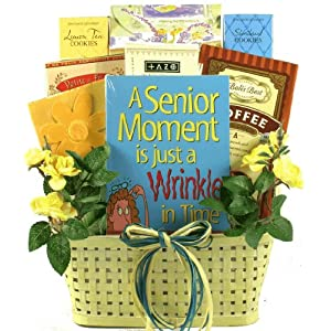 Timeless and Elegant Gourmet Senior Gift Basket | Great Birthday Gift Basket for Grandparents!