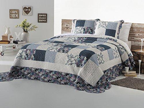 Fundeco - Colcha Bouti AMARANTA - cama de 150/160 cm. Color Unico