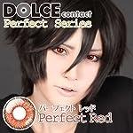 ドルチェカラコン【パーフェクトシリーズ】赤・レッド コスプレカラコン