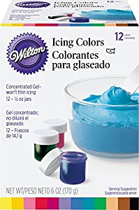 12 Colors -12 Icing Colors Set