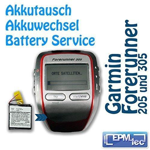 le-changement-de-batterie-laufuhr-pour-gps-garmin-forerunner-205-305-akkutausch-service-de-transform