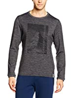 super natural Sudadera Graphic Relax (Gris Oscuro)