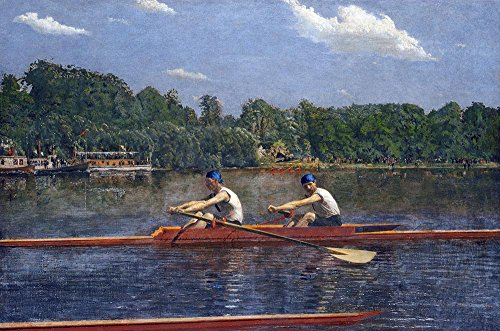 The Museum Outlet - Thomas Eakins - The Biglin Brothers Racing - Canvas Print Online Buy (30 X 40 Inch) (Biglin Brothers compare prices)
