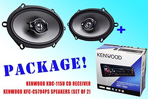 Package ! Kenwood Kdc-115U Cd-Receiver + Kenwood Kfc-C5794Ps Car Speakers