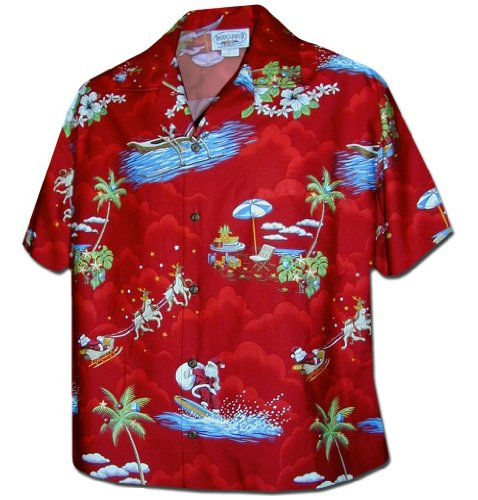 Women's Hawaiian Christmas Shirt