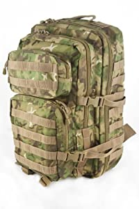 Army Patrol Rucksack Assault Backpack Combat MOLLE Pack Hiking 36l Arid Woodland Camo