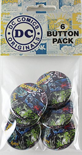 Button set DC Comics Batman Bricks 6 Individual Loose Buttons, 1.25""