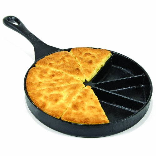 Heuck Pre-Seasoned Cast Iron Cookware Cornbread Pan 8 Section 8-1/2-Inch Diameter