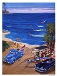 Dusk Surf Poster Print by Gary birdsa...