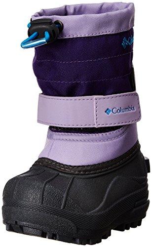 Columbia Td Powderbug Snow Boot (Toddler),White/Violet/Dark Compass,6 M Us Toddler front-1070806