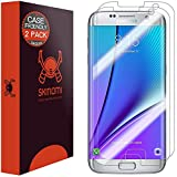 Galaxy S7 Edge Screen Protector, Skinomi® TechSkin (2-Pack,Case Friendly) Full Coverage Screen Protector for Galaxy S7 Edge Clear HD Anti-Bubble Film - with Lifetime Warranty