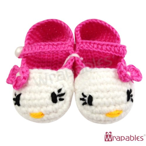 Kella Milla Baby Girl Crochet Kitty Booties (6-12 months)