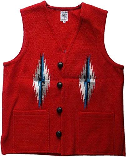 (オルテガ) チマヨベスト ≪40≫ 赤 レッド スクエアフロント ORTEGA'S CHIMAYO VEST RED 008 [並行輸入品]