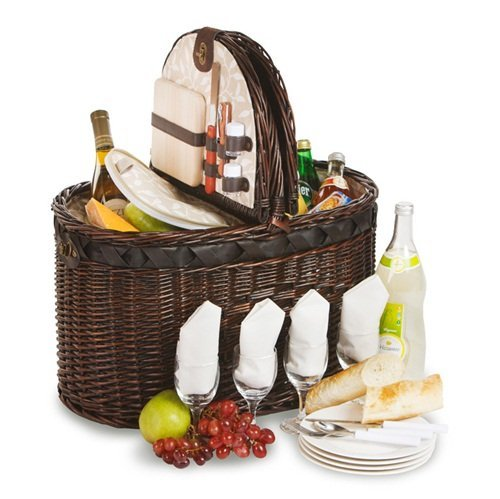 torrington-deluxe-picnic-basket-with-insulated-cooler-for-4-by-picnic-plus