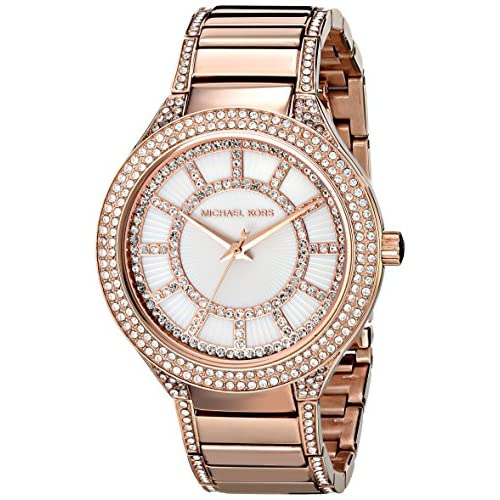 Michael Kors MK3313 38mm Gold Plated Stainless Steel Case Rose Gold Gold Plated Stainless Steel Mineral Women's...