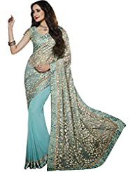 CSE Bazaar Women Indian Beautiful Fancy Beautiful Women Party Wear Saree - B00SO6MB4U
