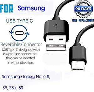 Genuine 2 Pack USB-C to USB A Charging Cable, Type C to Type A Sync Data Transfer Charger Power Cable Cord Compatible with Samsung Galaxy Note 8/S8/S8