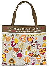 Womenso Love the Lord Your God with All Your Heart 13 Inch Nylon Tote Bag
