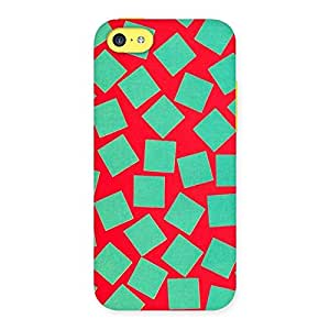 Impressive Green Red Print Back Case Cover for iPhone 5C