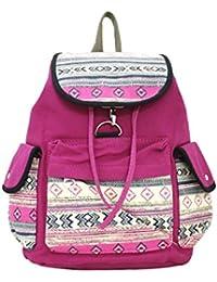 Shopaholic Multicolor Printed Dark Pink School Bag For Teenagers/Teenage Bag