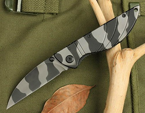 Full Tang Pocket Folding Camo Rescue Skinner Knife 5002-6.49''