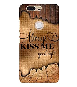 Always Kiss me Good Night 3D Hard Polycarbonate Designer Back Case Cover for Huawei P8