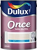 Dulux Once Matt Emulsion Paint Ivory Lace 2.5L