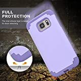 Galaxy S7 Case, SAUS [Heavy Duty] Lightweight 2 in 1 Hybrid Dual Layer with Hard Protective Case for Samsung Galaxy S7 ( Rose+Blue )