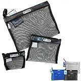 Set Of 3 Packing Mesh Envelopes Bag Organizer Makeup Pouch Storage Travel Case !