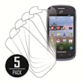 MPERO Collection 5 Pack of Clear Screen Protectors for Samsung Galaxy Centura S738C