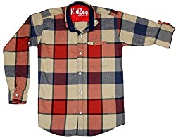 CAY 100% Cotton Red Color Block Checks Shirt