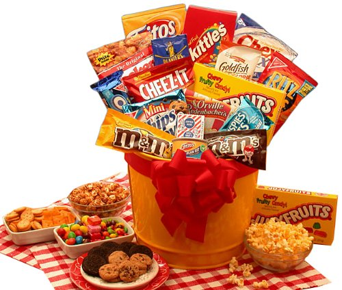 Organic Stores Gift Baskets Junk Food Gift Set, Madness Snack