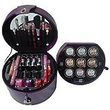 Gloss! Glam's Purple - Maleta de maquillaje, 33 piezas, color púrpura